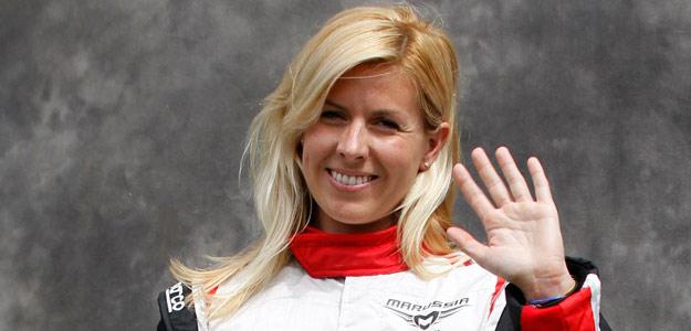 María de Villota, piloto del equipo de fórmula 1 Marussia