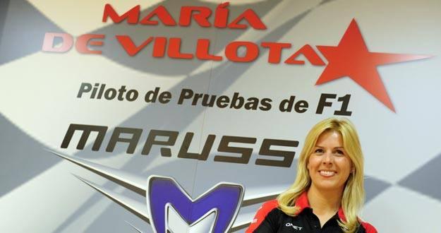 María de Villota, primera piloto española en la F1.