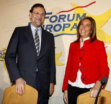 El presidente del PP, Mariano Rajoy, y la vicesecretaria de Organización del partido, Ana Mato.