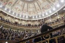 Mariano Rajoy entra al Congreso en la antesala de su investidura como presidente del Gobierno