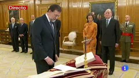 Ver vídeo  'Mariano Rajoy jura el cargo como presidente del Gobierno'