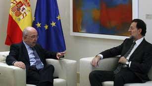 Ver vídeo  'Mariano Rajoy se reúne con Almunia para hablar de la situación económica de la eurozona'