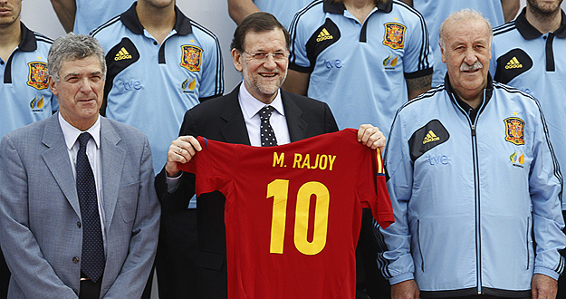 Rajoy selecci&oacute;n espa&ntilde;ola de f&uacute;tbol
