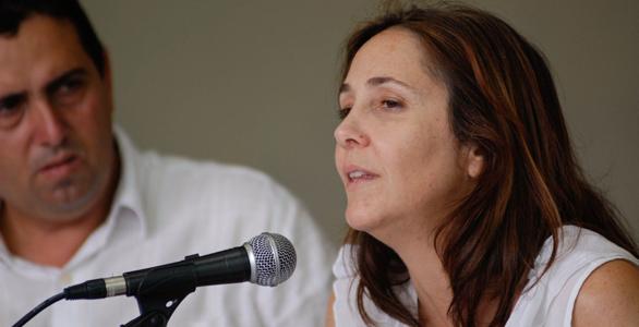 Mariela Castro, hija del dictador cubano Raúl Castro en un foro contra la homofobia el 16 de mayo de 2012