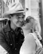 Marilyn Monroe y Clark Gable en &#146;Vidas rebeldes&#146;, 1961.