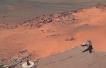Las imágenes muestran el 'clásico' terreno rojizo de la superficie de Marte