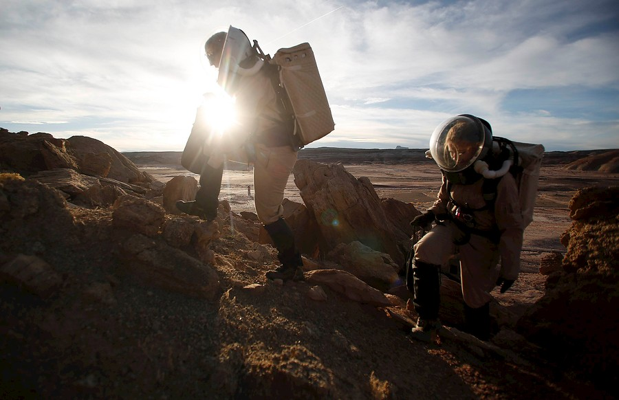 Marte en el desierto