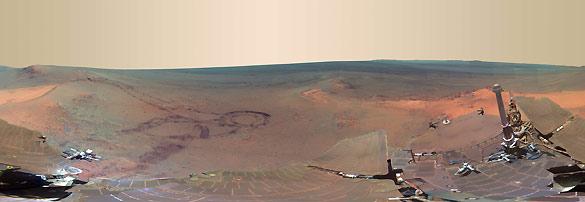 La panorámica de Marte difundida por la NASA y obtenida por el 'rover Opportunity'