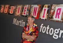 Martin Parr, en la inauguración de la exposición.