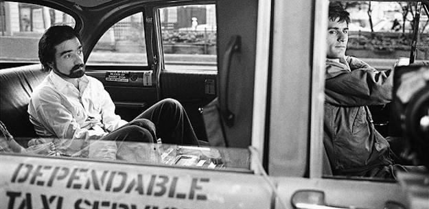 Martin Scorsese y Robert de Niro en una pausa del rodaje de 'Taxi driver'