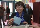 Martine Aubry, French Socialist party leader and Mayor of Lille, casts her ballot in the second-round of the 2012 French presidential election at a polling station in Lille