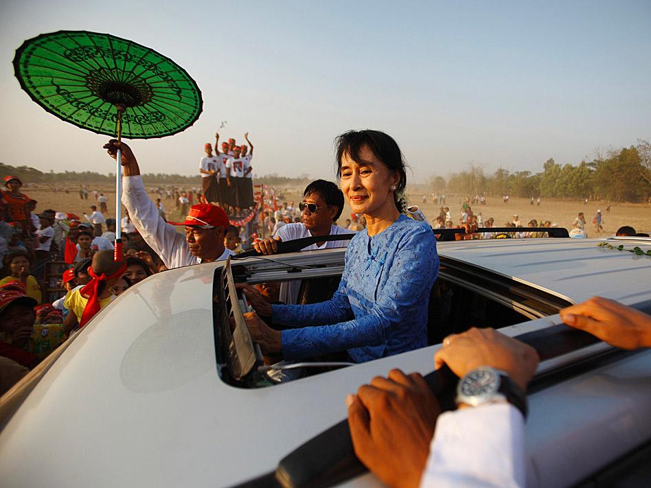 En marzo, la opositora birmana Aung Suu Kyi hizo campaña para las elecciones presidenciales y llegó hasta lugares remotos como Kawhmu Township, después de que el pasado año recuperara su libertad tras 14 años de arresto domicilario.