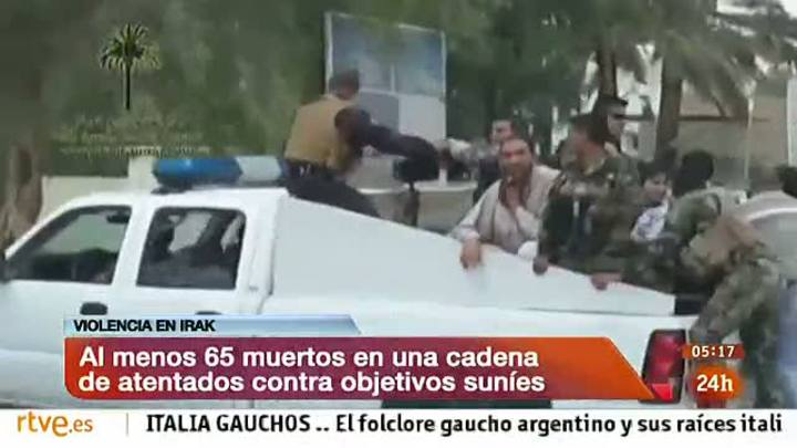 Ir al Video&nbsp;M&aacute;s de 50 muertos en una nueva ola de atentados sectarios en Irak