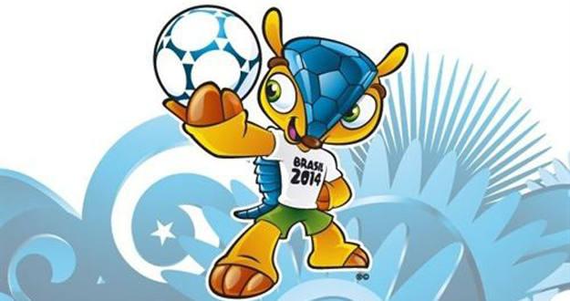 La mascota del Mundial 2014, un armadillo de tres bandas.