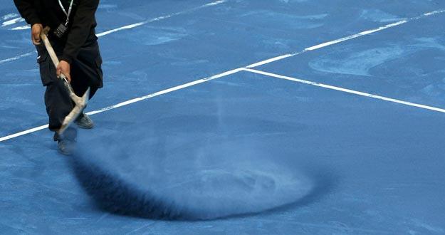 El Master 1000 de Madrid ha estrenado arcilla de color azul para sus pistas