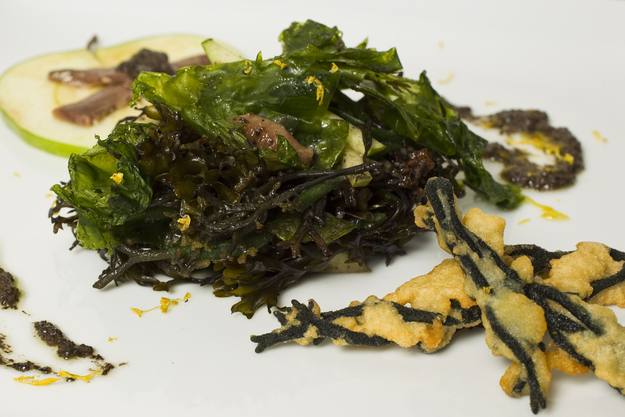 MasterChef - Ensalada de algas al aceite de aceitunas negras