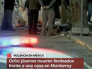 Ver vídeo  'Matan a balazos a ocho personas en Monterrey (México)'