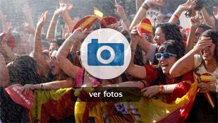 Las mejores imágenes de la celebración de la Roja en Madrid