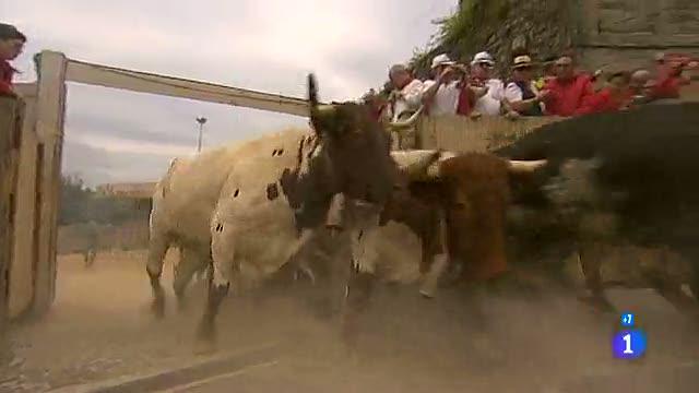 Los mejores momentos del cuarto encierro de San Fermín 2012, de El Pilar