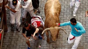 Ver vídeo  'Los mejores momentos del séptimo encierro de San Fermín 2012'