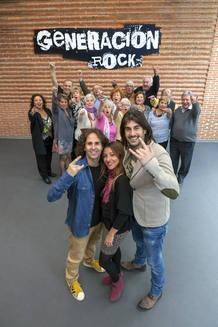 """Melendi, Reichel, Jopi con los participantes de """"Generación Rock"""""""