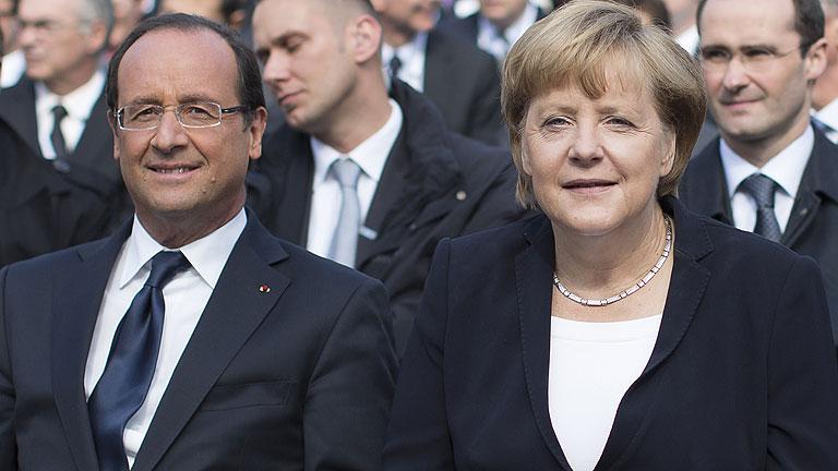 Merkel y Hollande coinciden en intensificar la cooperación frente a la crisis