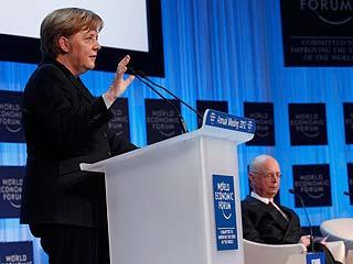 Ver vídeo  'Merkel inaugura el Foro de Davos defendiendo que los Veintisiete cedan más competencias a la UE'