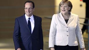 Ver vídeo  'Merkel recibe a Hollande para coordinar su postura sobre Grecia'