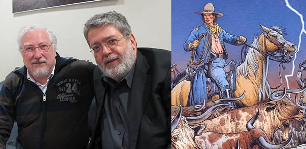 Michel Blanc-Dumont y François Corteggiani en el Salón del cómic de Barcelona