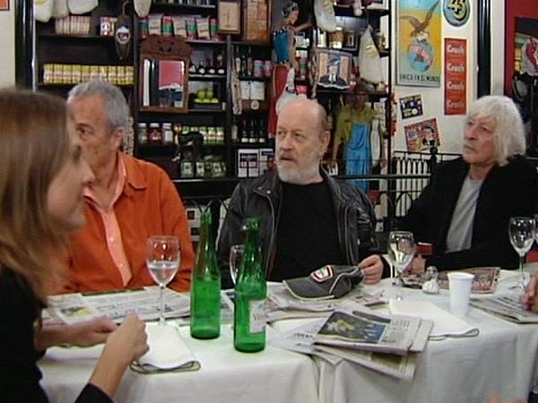 Miguel y Gemma coincidieron con los humoristas Les Luthiers en un restaurante porteño