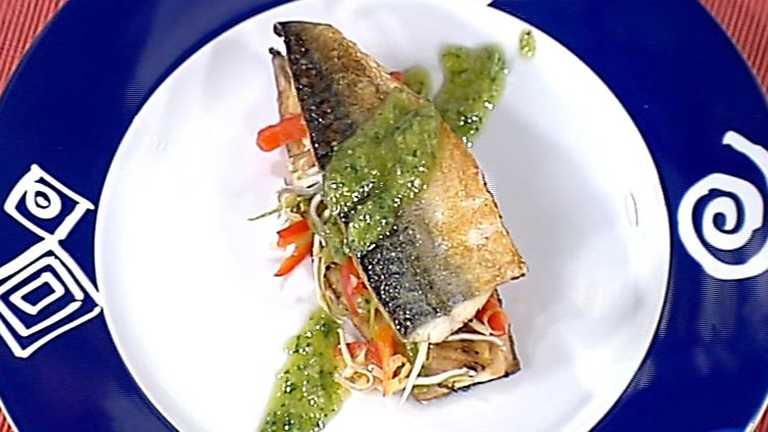 Cocina con Sergio - Milhojas de caballa con salsa al pesto