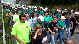 Ver vídeo  'Mineros de Asturias, León y Teruel marchan a pie rumbo a Madrid contra los recortes'