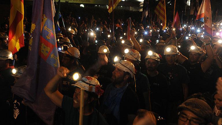 La marcha de los mineros llegará esta noche al centro de Madrid