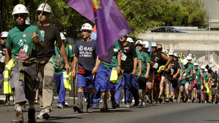 Los mineros prosiguen su marcha por la Comunidad de Madrid