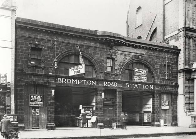 El Ministerio de Defensa británico saca a la venta la estación de metro Brompton Road
