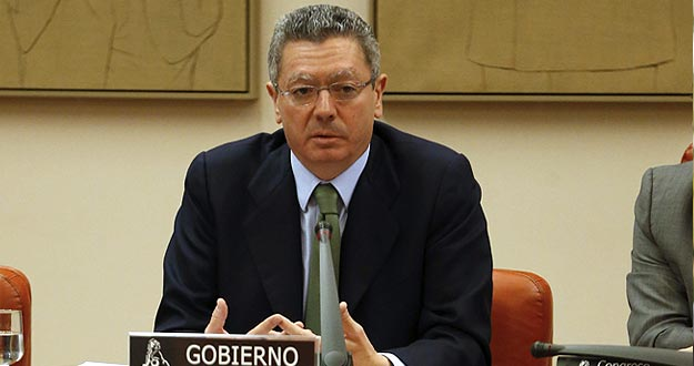 El ministro de Justicia, Alberto Ru&iacute;z Gallard&oacute;n, durante una comparecencia en el Congreso.