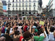 Minuto de silencio en la Puerta del Sol para reclamar la libertad de los detenidos