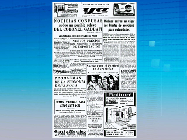 Hace 37 a&ntilde;os la portada del diario 'Ya' era igual que las noticias de hoy