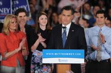 """Mitt Romney, segundo en las primarias de Carolina del Sur, promete una """"larga batalla"""""""