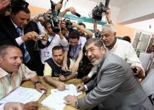 El candidato presidencial egipcio Mohamed Mursi, de los Hermanos Musulmanes.