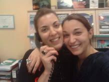 Mónica Delibes y su compañera Chari, a las que les ha tocado El Gordo