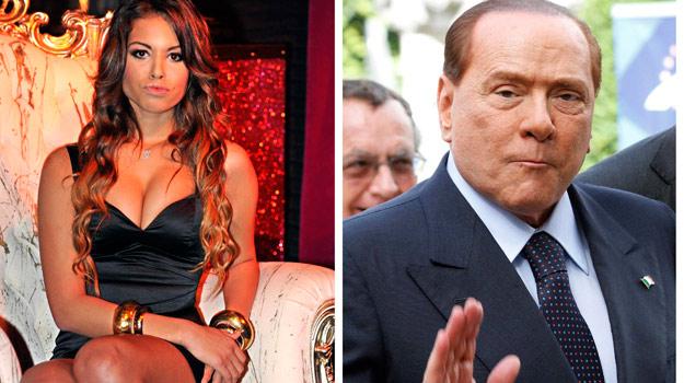 Montaje con las imágenes de Ruby y Silvio Berlusconi