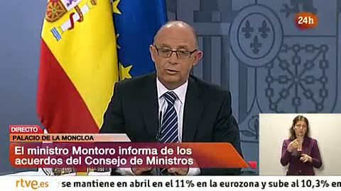 Ver vídeo  'Montoro avanza que prepara a la vez los PGE de 2013 y 2014 después de que lo pidiera Bruselas'