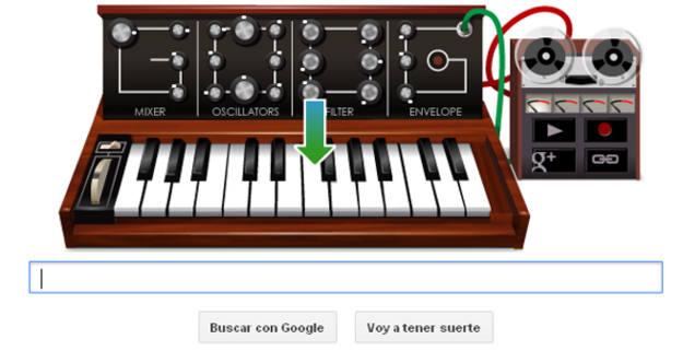 El buscador rinde homenaje a Robert Moog con su famoso sintetizador