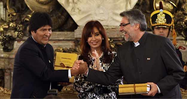 Morales, Lugo y Fernández de Kirchner