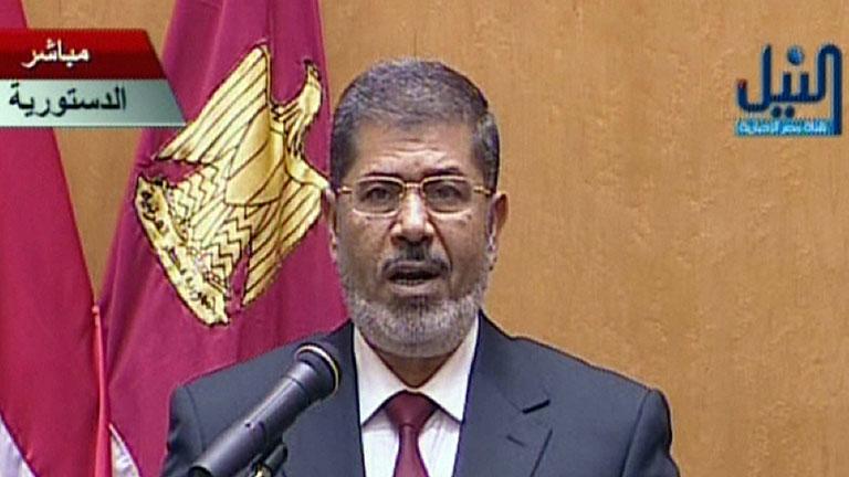 Morsi jura su cargo como presidente de Egipto
