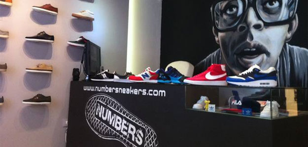 Mostrador de Numbers, tienda de zapatillas en Madrid