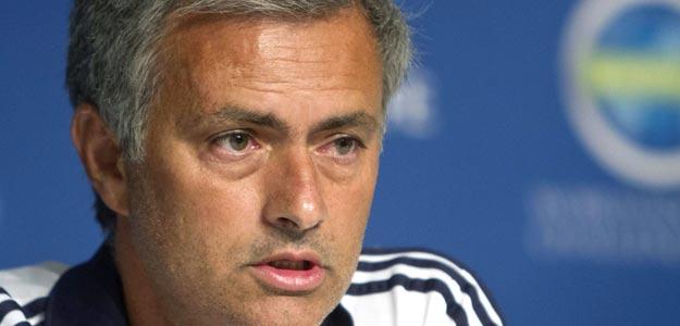 El entrenador del Real Madrid, el portugués José Mourinho, en una conferencia de prensa