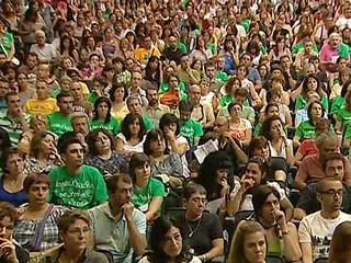 Ver vídeo  'Movilizaciones en educación por los recortes anunciados por los gobiernos regionales'