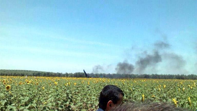 Muere el piloto de un avión de combate en la base de Morón, al estrellarse en un ejercicio de rutina